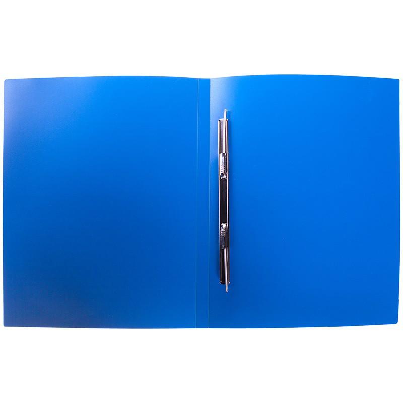 Папка-скоросшиватель с пружинным механизмом OfficeSpace, А4, синяя