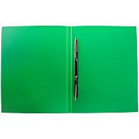 """Папка-скоросшиватель с пружинным механизмом SILWERHOF """"BASIC"""", А4, зеленая"""
