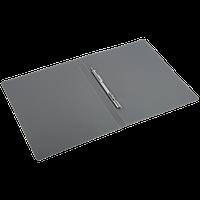 Папка-скоросшиватель с пружинным механизмом БЮРОКРАТ, А4 , внутренний карман, черная