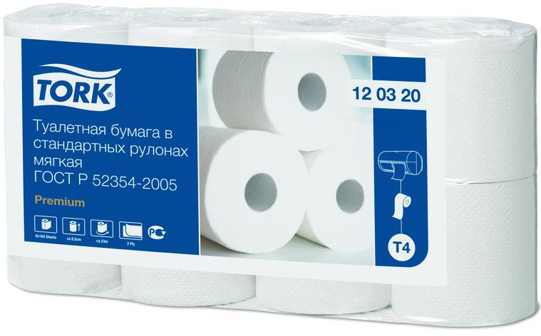 Мягкая туалетная бумага Tork Premium в стандартных рулонах, 2 слоя 120320, фото 2