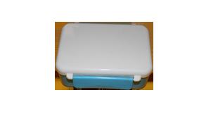 Ланч-Бох. Цвет голубой (контейнер для еды) Размер: 11*16*7см