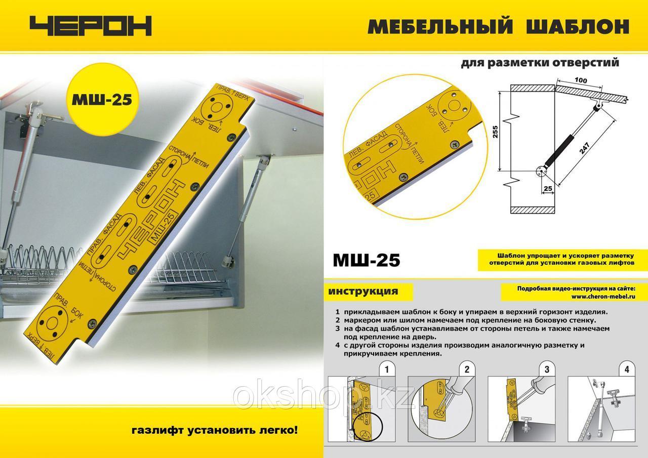 МШ-25 Мебельный шаблон МШ 25 Черон