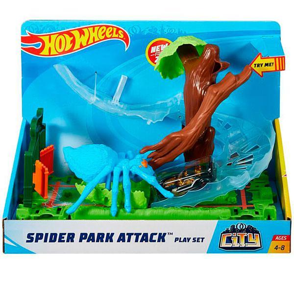 """Hot Wheels Набор серии """"Хот Вилс Город чудовищ"""" - Атака паука в парке"""