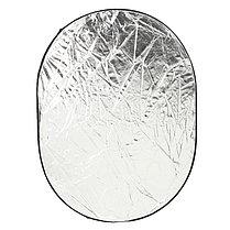 Фото отражатель 90 × 120 см 5 в 1 - золото, серебро, белый, чёрный, рассеиватель, фото 3