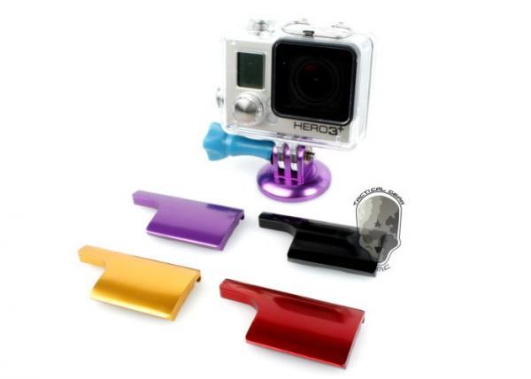 Алюминиевый замок на бокс для GoPro (черный, красный, фиолетовый и золотой)