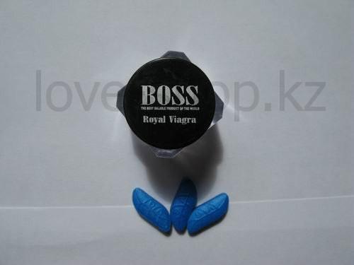 BOSS Royal Виагра королевская - Препарат для повышения потенции (баночка - 3 таблетки)