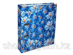 """Папка-регистратор """"Синие цветы"""" А4, 80мм"""