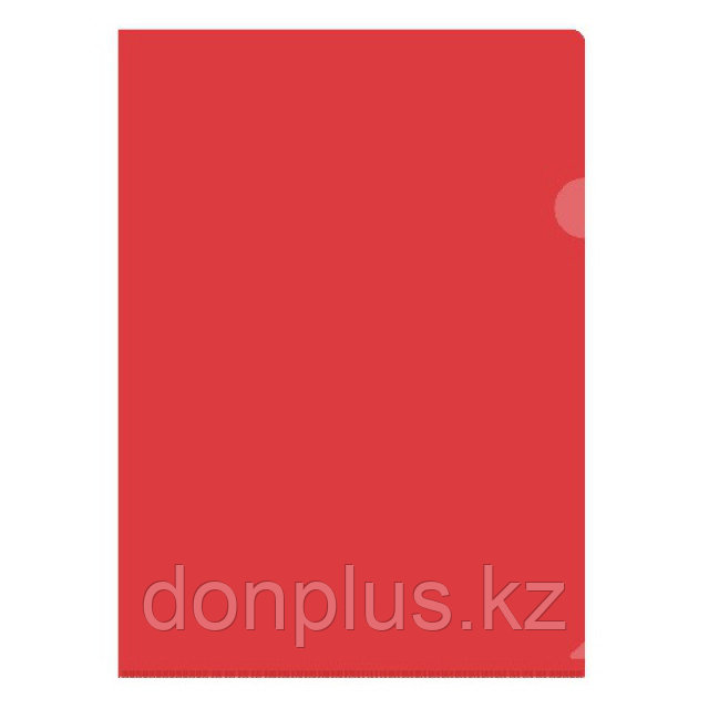 Папка-уголок OfficeSpace, А4, 150 мкм, красная