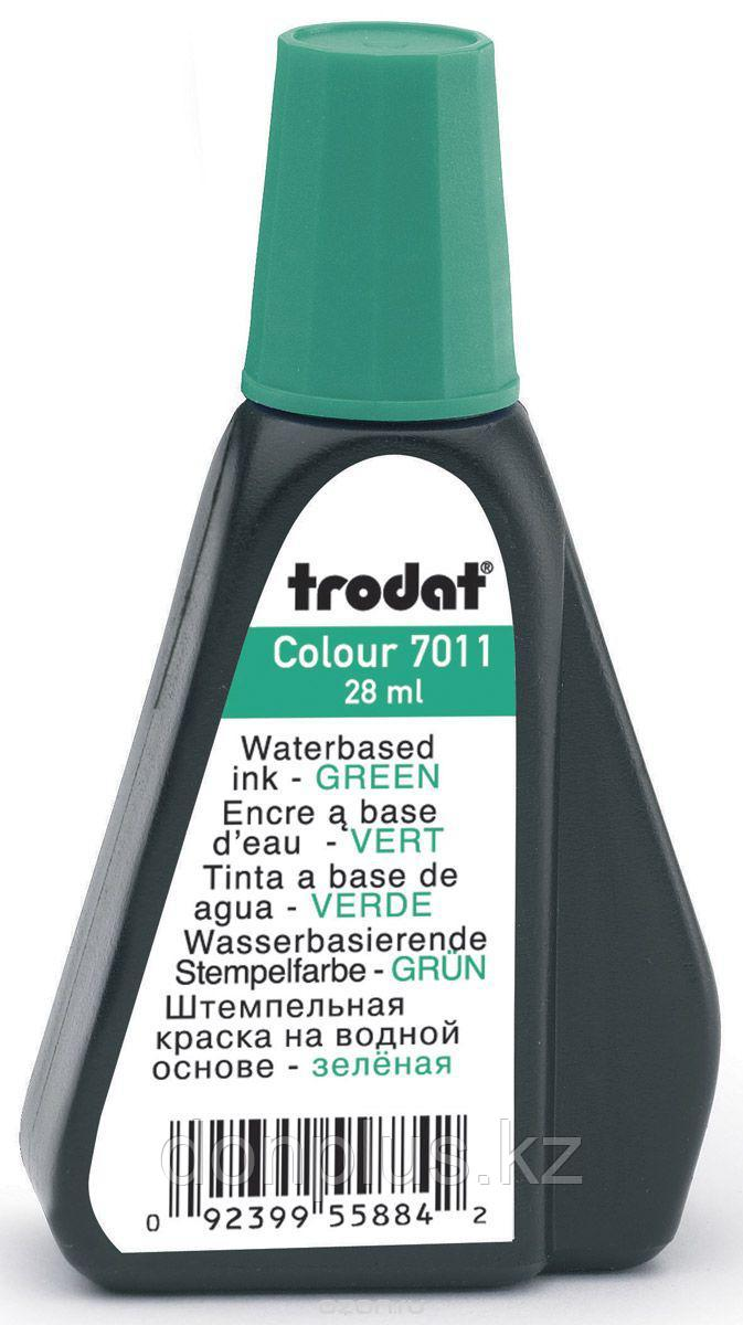 Краска штемпельная TRODAT, 28 мл, зеленая