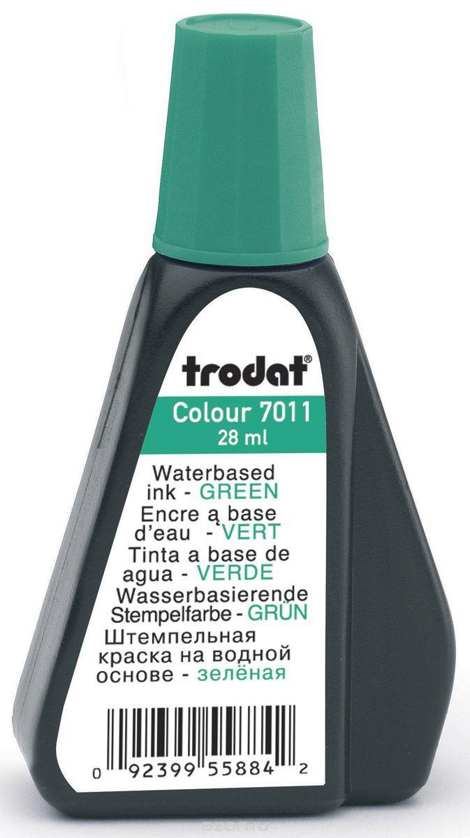 Краска штемпельная TRODAT, 28 мл, зеленая - фото 1