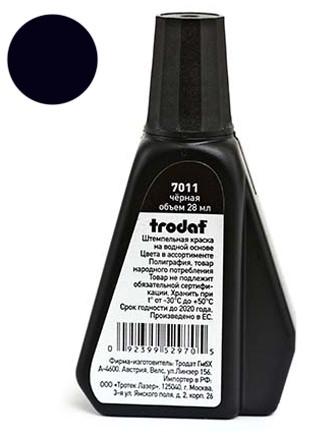 Краска штемпельная TRODAT, 28 мл, черная