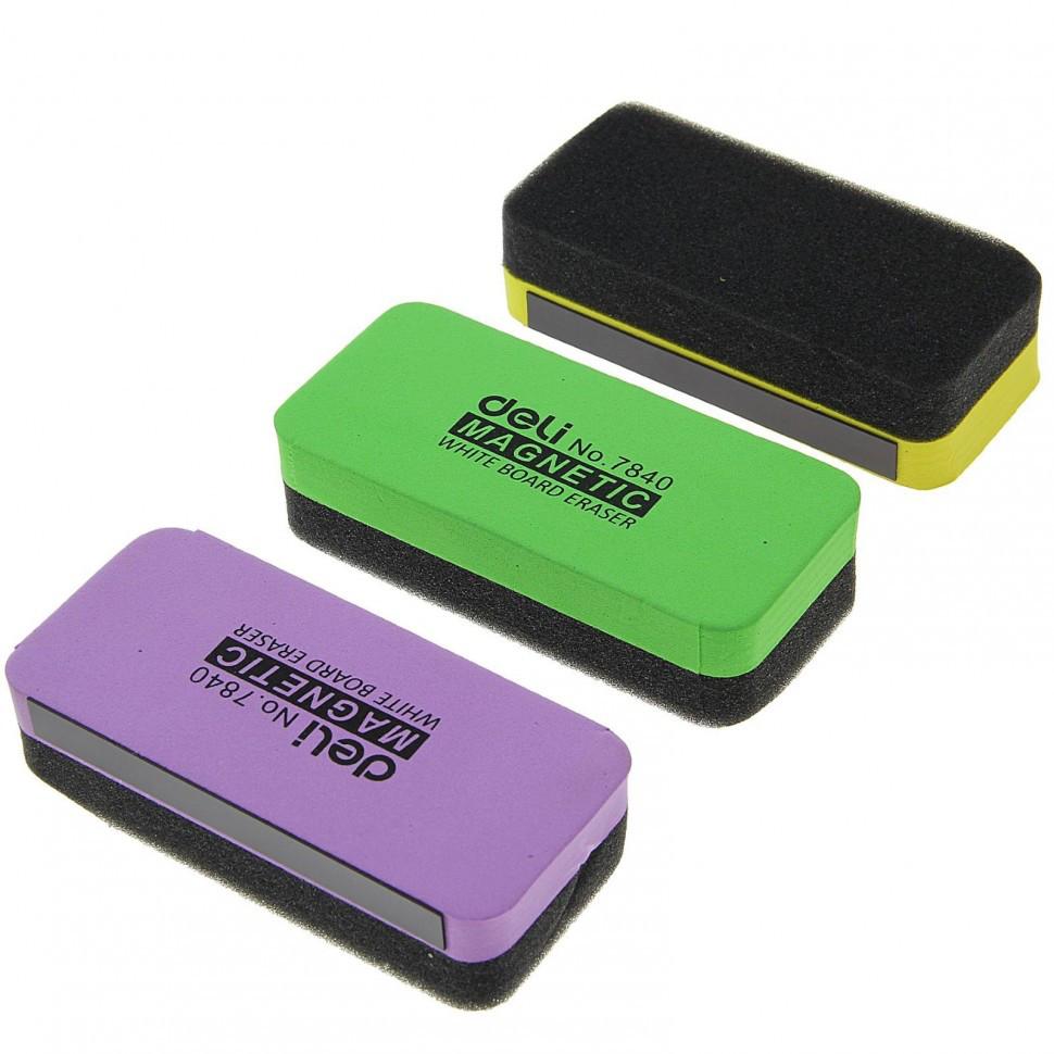 Губка магнитная для маркерных досок Deli 110 x 50 х 30 мм.