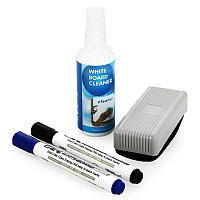 Набор DELI для маркерной доски: жидкость, маркер 2 шт, губка