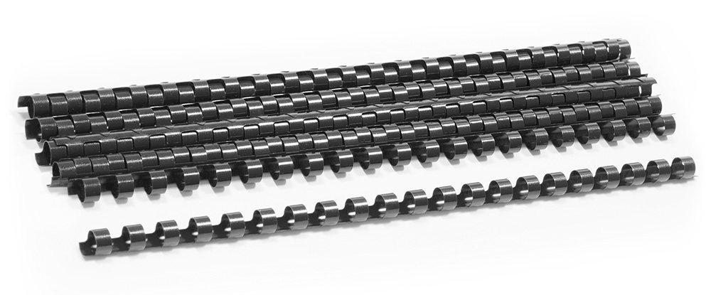 Пружины для переплета пластиковые Deli 16 мм, черные