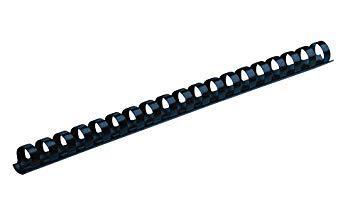 Пружины для переплета пластиковые Deli 6 мм, черные