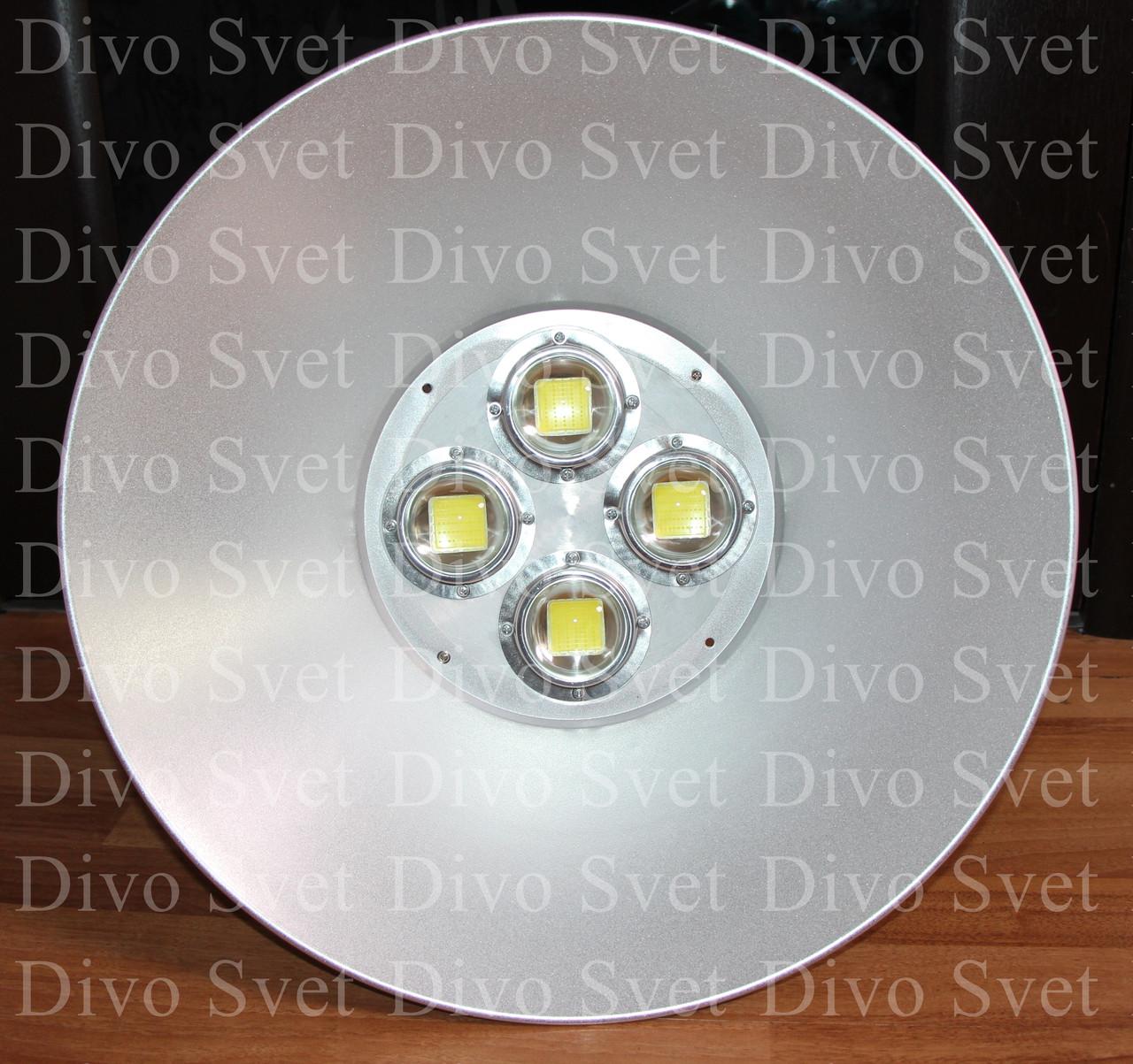 """Светодиодный промышленный светильник """"Колокол"""" 200W. Купольный LED подвесной светильник для освещения склада."""