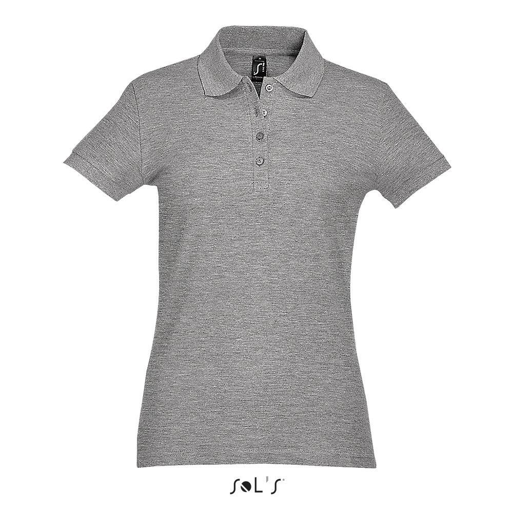 Рубашка Поло женская | Sols Passion M Серый.