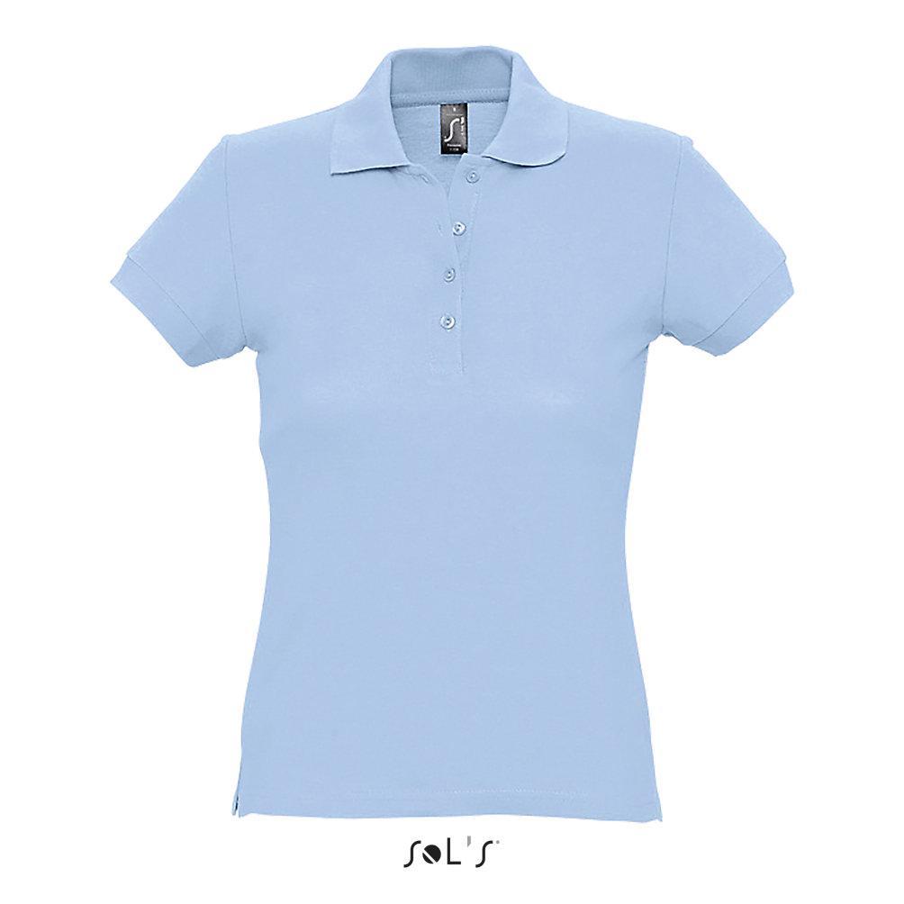 Рубашка Поло женская   Sols Passion L Голубой.