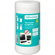 Салфетки чистящие для мониторов OfficeClean 100 шт в тубе