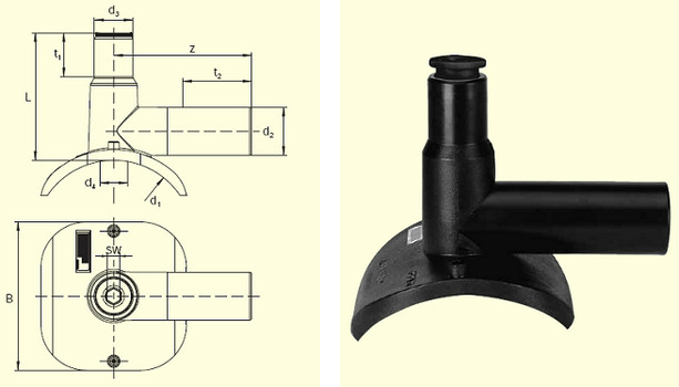Электросварные фитигни DAA (Kit) d110/50, фото 2
