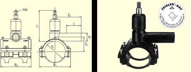 Электросварные фитигни DAV d140/63, фото 2