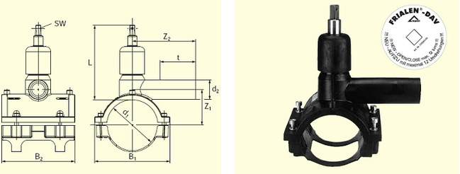 Электросварные фитигни DAV d200/63, фото 2