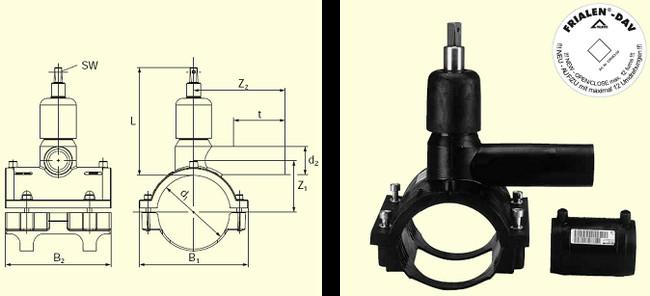 Электросварные фитигни DAV(Kit) d90/40