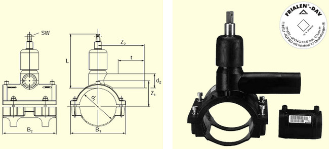 Электросварные фитигни DAV(Kit) d110/50