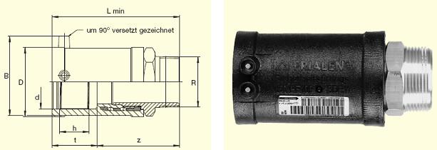 """Электросварные фитигни MUN d32x1"""", фото 2"""