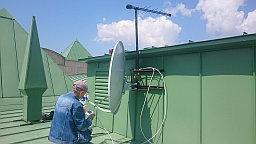 В ЖК Триумфальный  был выполнен ряд монтажных работ по подключению спутникового телевидения         (НТВ+ восток) и цифрового эфирного телевидения ( ОТАУ-ТВ).