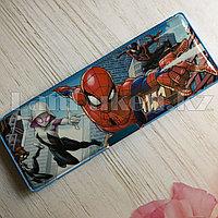 Школьный пенал каркасный с 3 отделениями + 2 точилки Человек-паук
