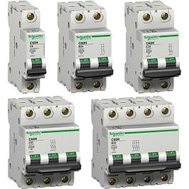 Расцепители, автоматические привода, вспомогательные контакты для автоматов и УЗО