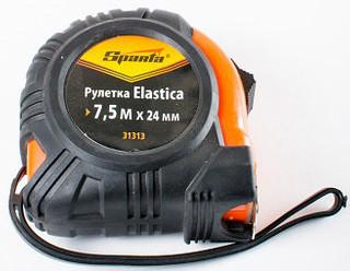 Рулетка Elastica, 7,5 м х 24 мм,обрезиненный корпус//SPARTA