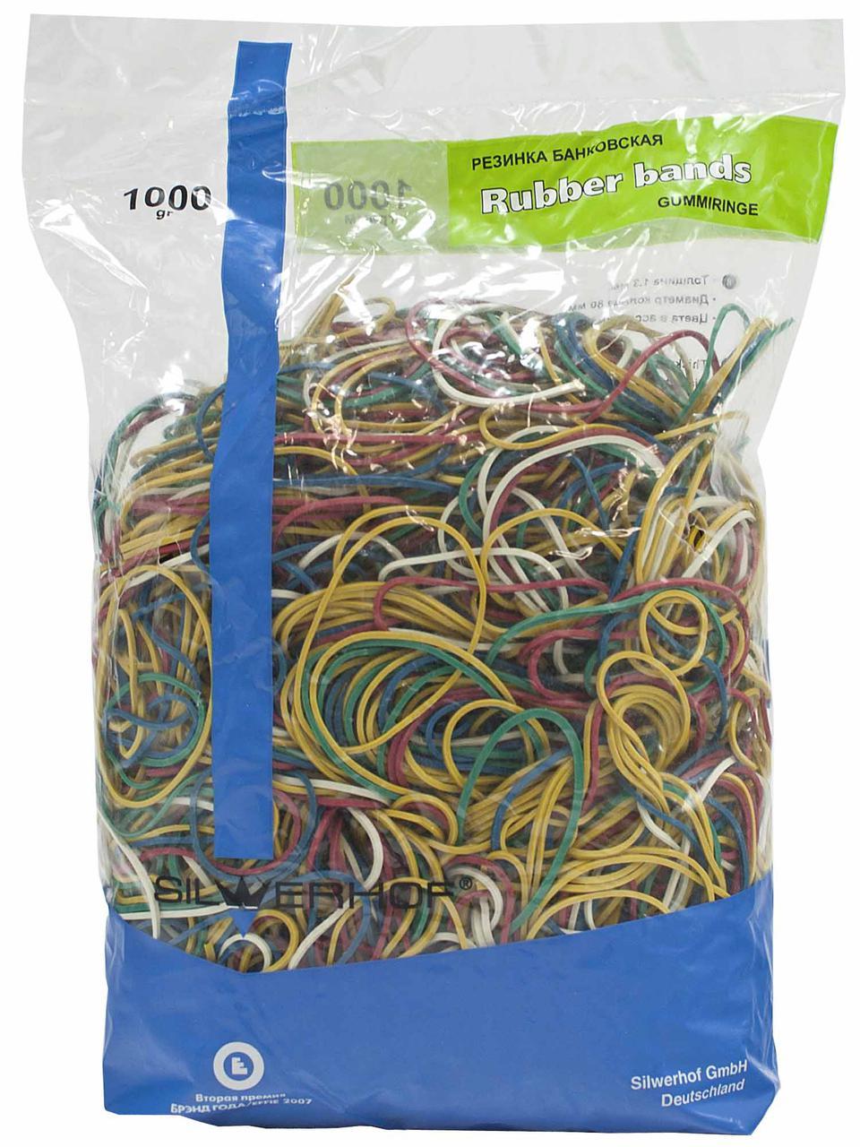 Резинки для денег Silwerhof, 200 гр, цветные