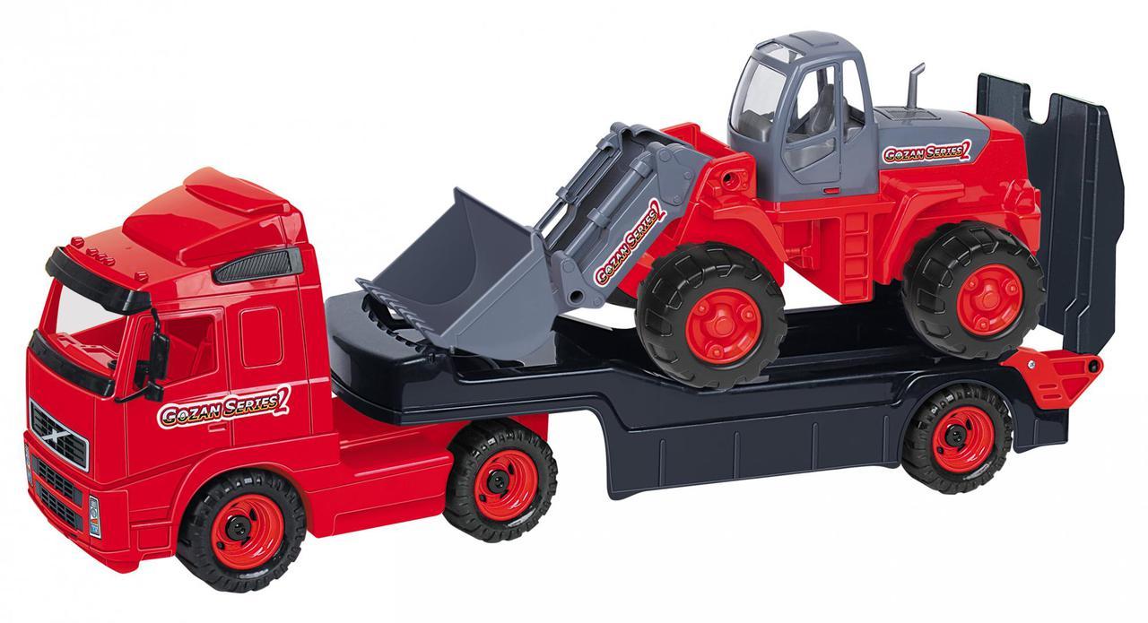 Полесье Игрушечный Автомобиль-трейлер Volvo и Трактор-погрузчик