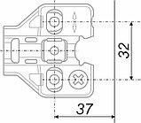 Ответная планка к мебельным петлям NEO с эксцентриком, фото 2