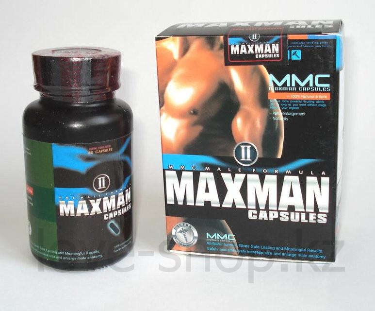 MAХMAN - 2 - Препарат для повышения потенции и размеров полового члена (60 капсул )