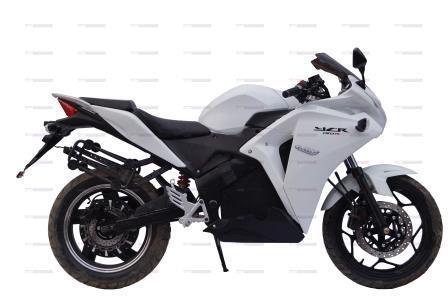 Электромотоцикл YCR-3000W белого цвета