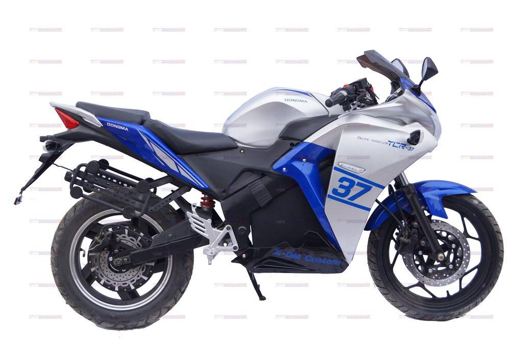 Электромотоцикл YCR-3000W (без АКБ) синий с серым