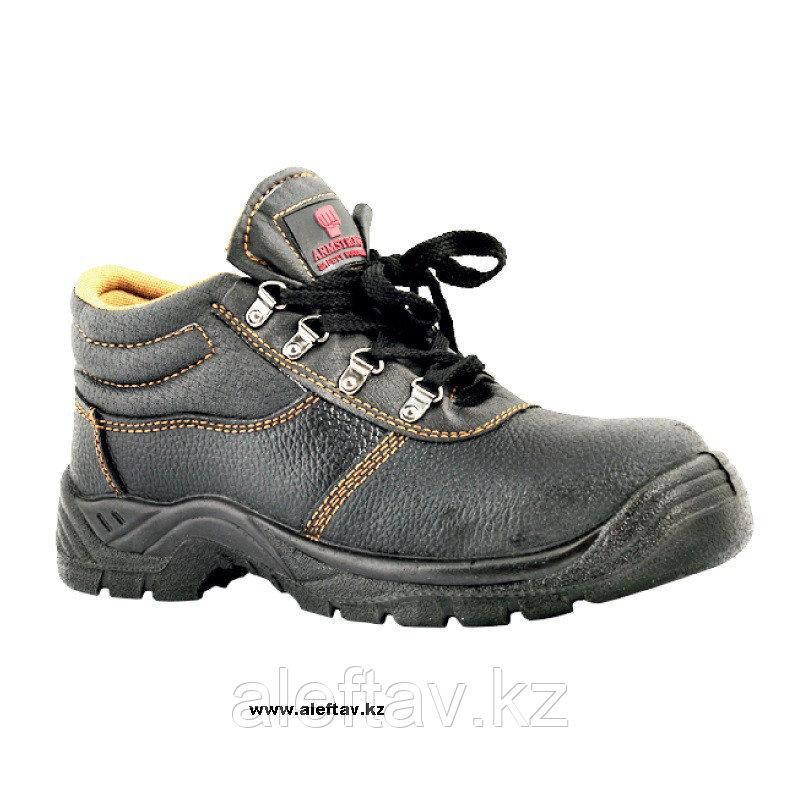 Летняя защитная обувь, натуральная кожа, метал. подносок, подошва полиуретан -  Армстронг