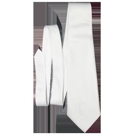Галстук белый 100% полиэстр