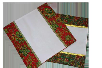 Наволочка Хохлома,цвет зеленый/красный