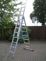 Лестница алюминиевая, трехсекционная 3х6 пер. KRAUSE CORDA