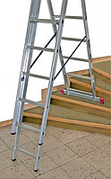 Лестница алюминиевая, трехсекционная 3х7 пер. KRAUSE CORDA