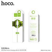 Usb HOCO x20 micro White 1m