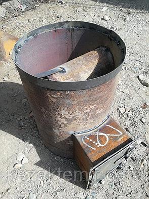 """Банная печь """"Круглая 420"""" диаметр с нержавеющим баком, фото 2"""