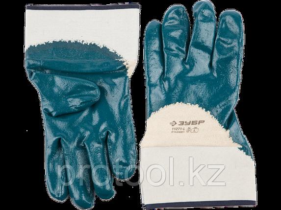 """Перчатки ЗУБР """"МАСТЕР"""" рабочие с нитриловым покрытием ладони, размер L (9), фото 2"""