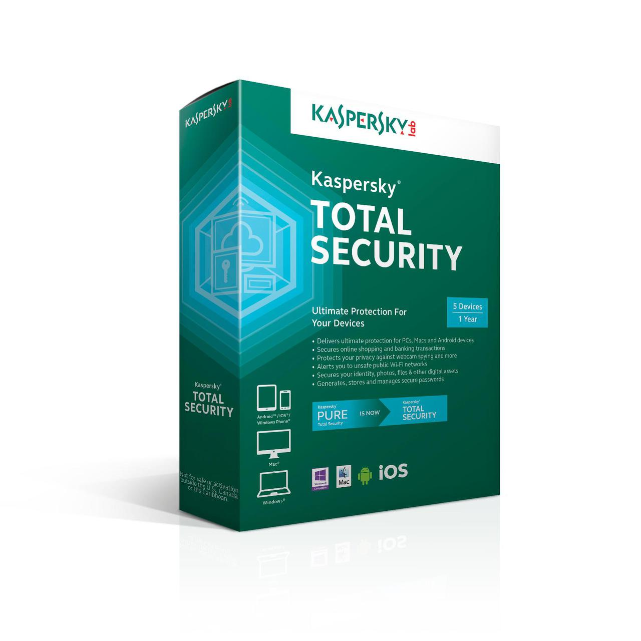 Kaspersky Total Security Продление (Renewal) 1 год
