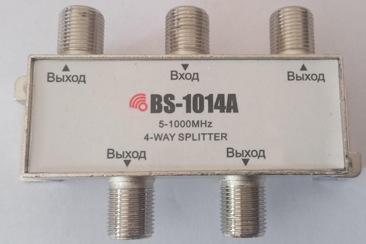 Сплиттер на 4 выхода (5-1000 MHz)  BS-1014A Bigstar