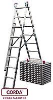 Лестница алюминиевая трехсекционная KRAUSE CORDA